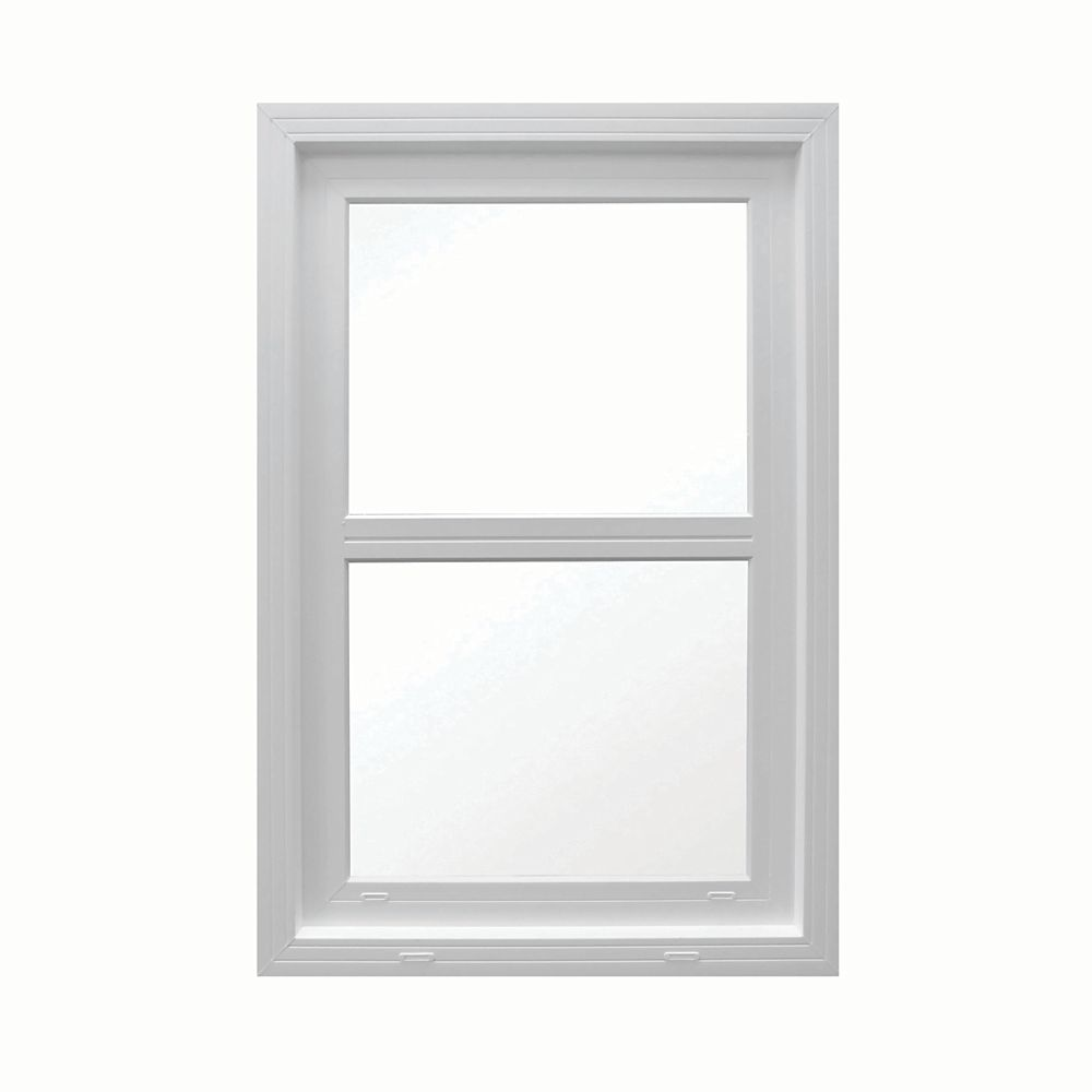 SOLENSIS 36 Inch X 48 Inch Vinyl Single Hung Window with 3 1/4 Inch Frame and Integrated Brickmould - ENERGY STAR®