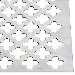 24 x 36 x 0,02 po Tôle d'aluminium décorative - Clover Leaf