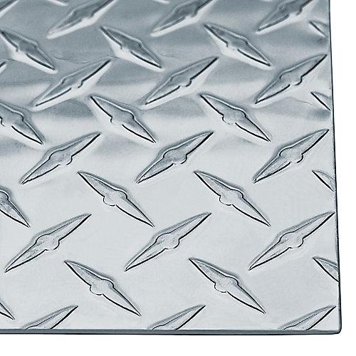 24 x 12 x 0.063-inch Bright Aluminum Tread Plate