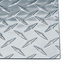 24 x 12 x 0,063 pouce Plaque de marche en aluminium brillant