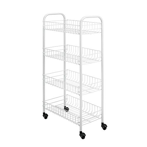 Metaltex Pisa Rolling Cart 4-Tier 41 X 23 X 85 CM