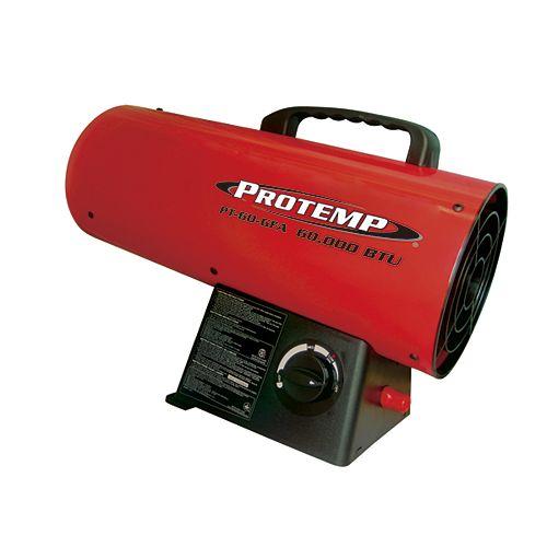 60,000 BTU  LP Forced Air Heater