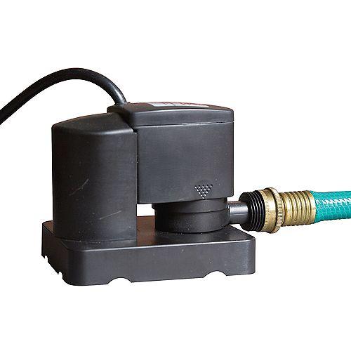 Pompe 1 325 l/h avec interrupteur marche/arrêt pour couverture d'hivernage de piscine hors-terre