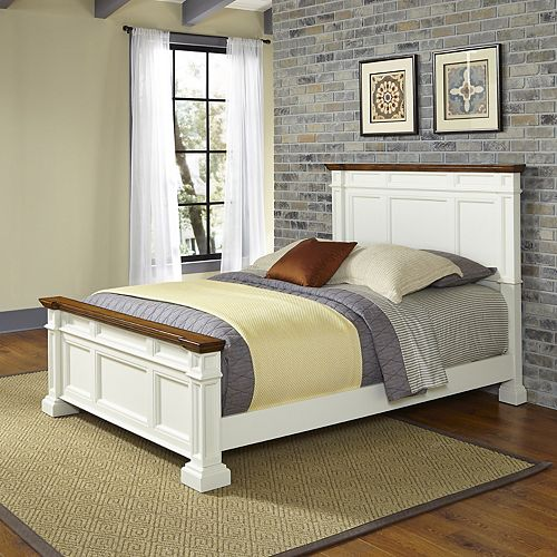 Home Styles Americana White Queen Bed