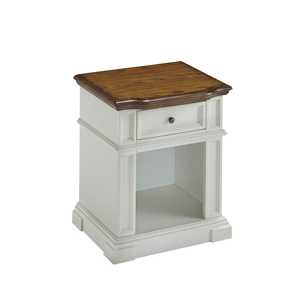 Home Styles Americana 24-inch x 28-inch x 20.5-inch 1-Drawer Nightstand in White