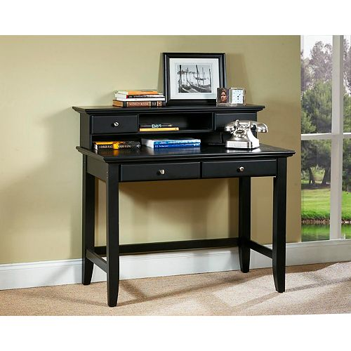 Bedford 42-inch x 38.75-inch x 24-inch Standard Writing Desk in Black
