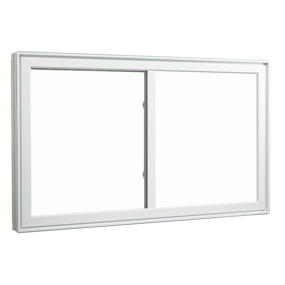 SOLENSIS Fenêtre coulissante en PVC 36 X 36 po avec cadre de 4 1/2 po - ENERGY STAR®