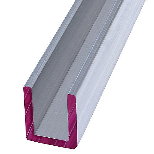 1/2 x 96-inch Aluminum Channel Plywood Trim