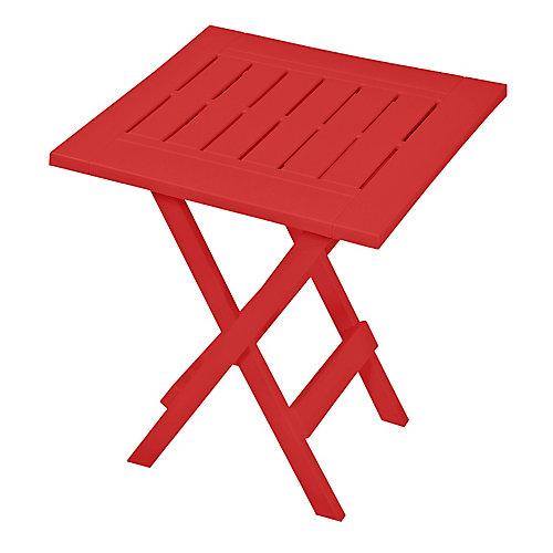 Folding Patio Side Table in Red