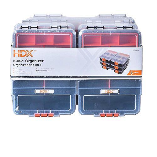 65-Compartment 5-in-1 Small Parts Organizer