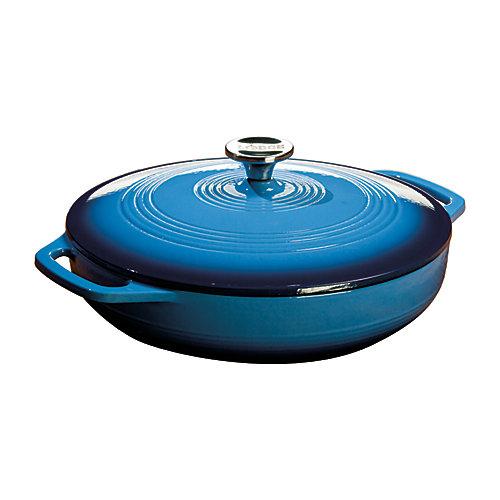 Colour Enamel Casserole Blue 3.6 Quart