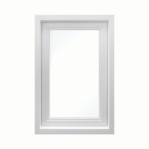 24 Inch X 48 Inch Vinyl Right-Hand Casement Window with 3 1/4 Inch Frame and Integrated Brickmould - ENERGY STAR®