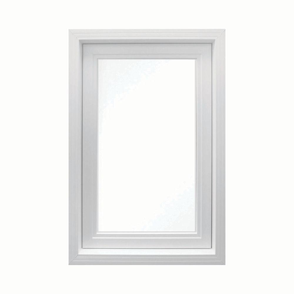 SOLENSIS 24 Inch X 48 Inch Vinyl Left-Hand Casement Window with 3 1/4 Inch Frame and Integrated Brickmould - ENERGY STAR®