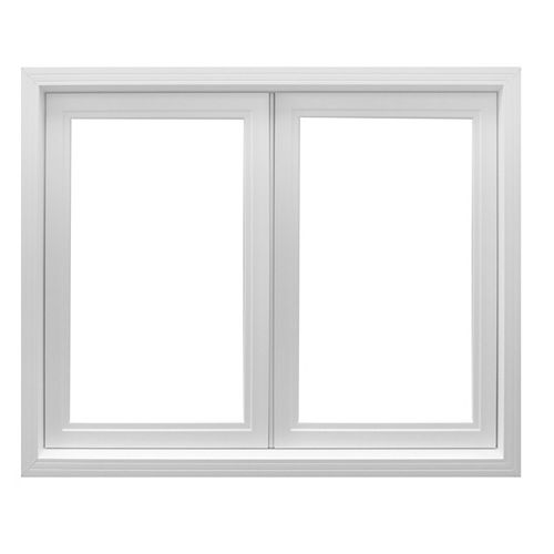 48 Inch X 48 Inch Vinyl Left-Hand Casement Window with 3 1/4 Inch Frame and Integrated Brickmould - ENERGY STAR®