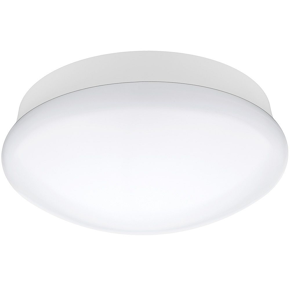 Commercial Electric 11 Inch Integrated Led Flushmount Ceiling Light Fixture In Bright Whit The Home Depot Canada