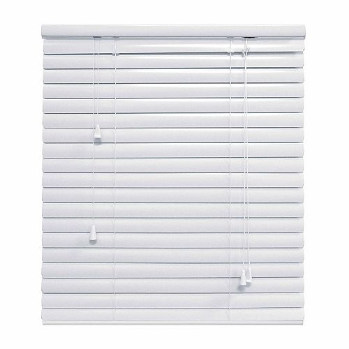 Hampton Bay HB 1.375 Inch Aluminum Blind 24x48 White