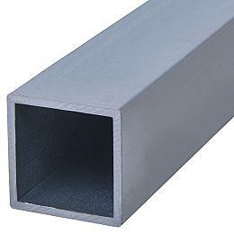 1 tube carré en aluminium de 96 po.
