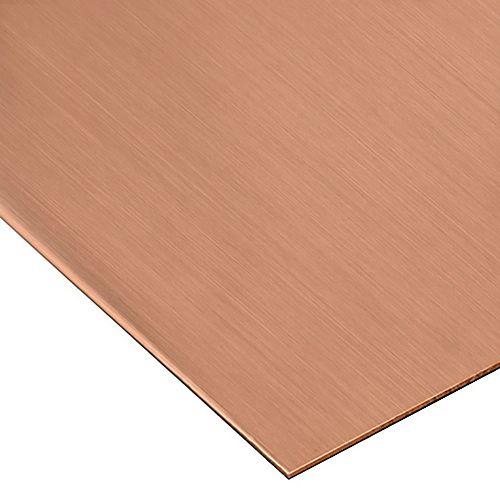 12 x 24-inch 26 Gauge Copper Sheet