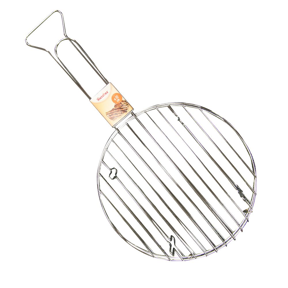 Metaltex Chrome Plated Round Meat Grill 32CM