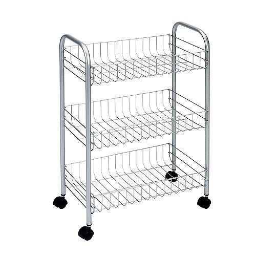 Polytherm - Lugano Rolling Cart 3-Tier 41 X 26 X 64 CM