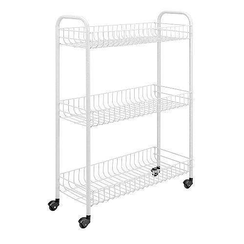 Slim Rolling Cart 3-Tier 56 X 23 X 84 CM