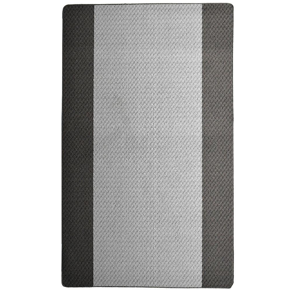 Lanart Rug Element Grey 4 ft. x 6 ft. Rectangular Area Rug