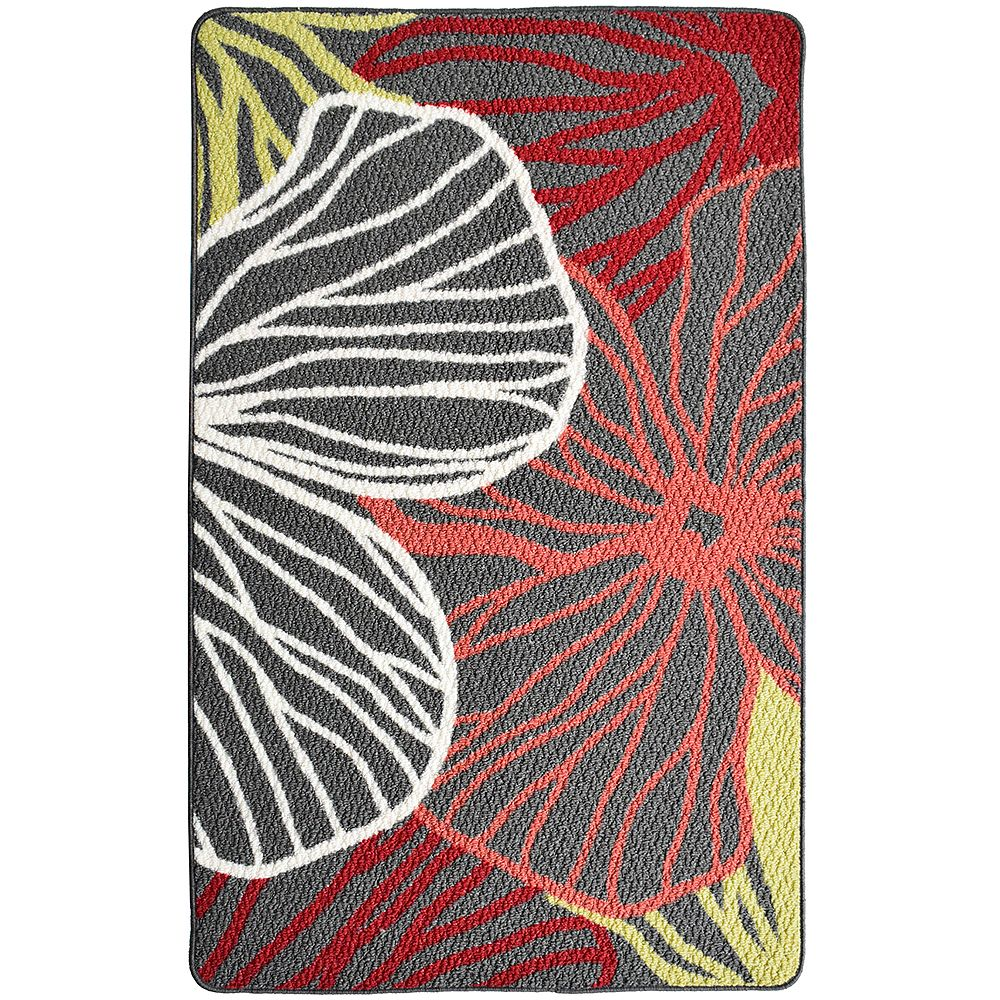 Lanart Rug Carpette, 2 pi 4 po x 3 pi 9 po, rectangulaire, rouge Tropic