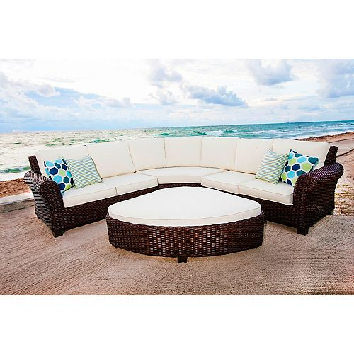 4-Piece Palmetto Cushioned Sectional