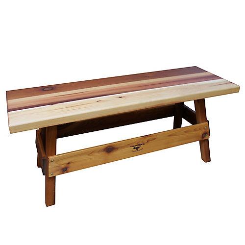 14-inch x 47-inch x 19-inch Cedar Garden Bench