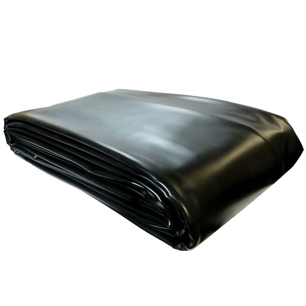 Angelo Décor Pro Series 8 ft. x 12 ft. PVC 30 mil Pond Liner in Black