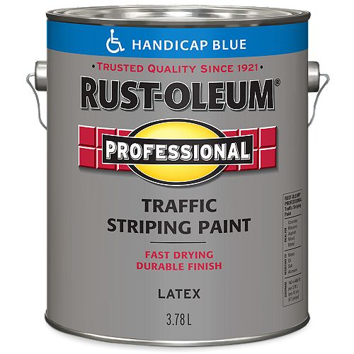 Traffic Striping Paint In Accessibility Blue, 3.78 L