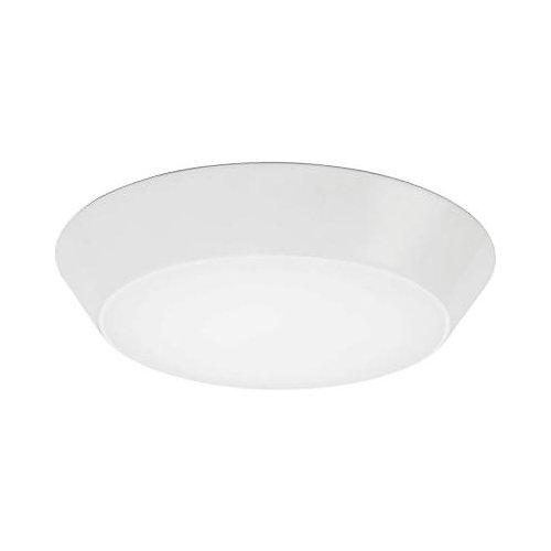 Petit luminaire DEL Versi de 2700K et de 17,7cm (13po), blanc, rond et texturé, encastré