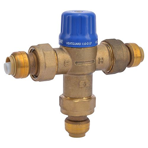 Cash Acme 1/2 Inch Thermostatic Mixing Valve with connectors