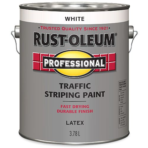 Traffic Striping Paint In White, 3.78 L