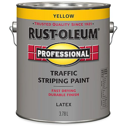 Traffic Striping Paint In Yellow, 3.78 L
