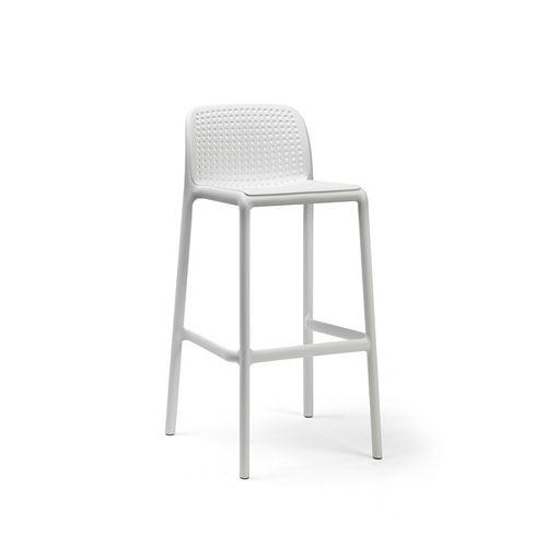 LIDO Outdoor Resin Barstool in White (4-Pack)