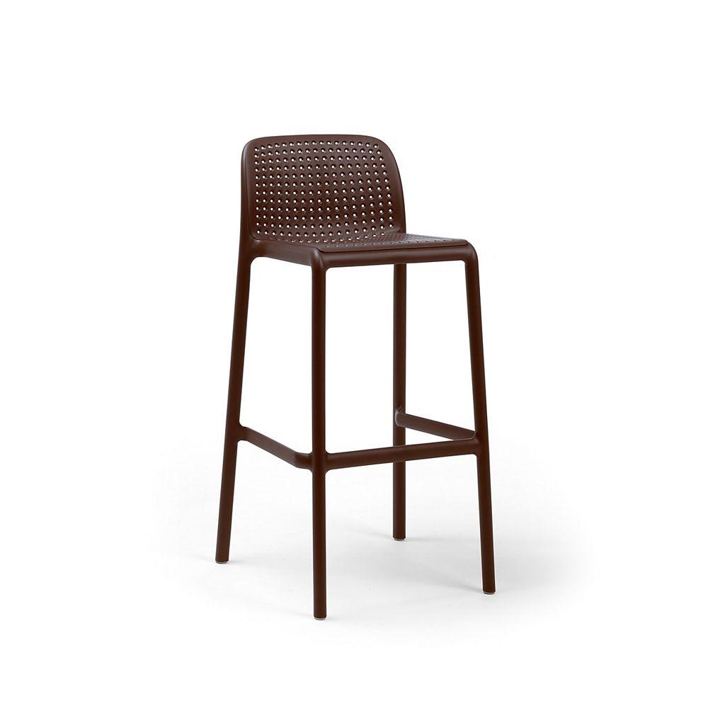 Nardi LIDO Outdoor Resin Barstool in Cafe Brown (4-Pack)