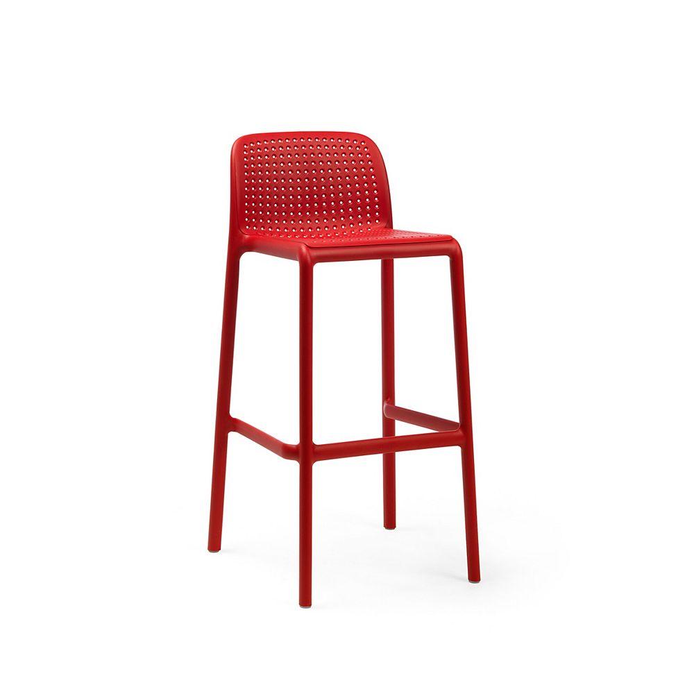 Nardi LIDO Outdoor Resin Barstool in Red (4-Pack)
