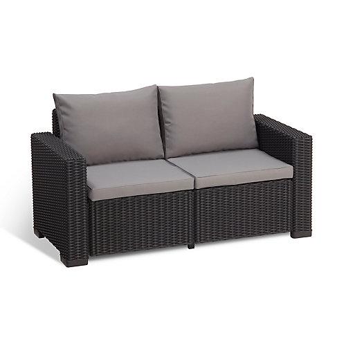 Allibert Californie 2 Seater Sofa extérieur (gris-foncé de bois)