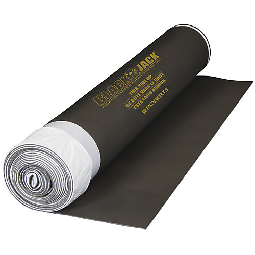 Black Jack 100 sq. ft. 28 ft. x 43-inch x 2.5 mm Premium 2-in-1 Underlayment for Laminate Wood Floors