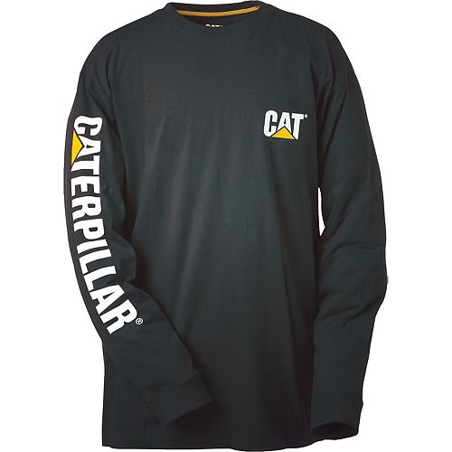Caterpillar (CAT) Black Trademark Banner L/S Tee M