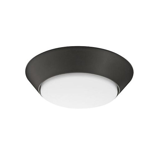 7 Inch Versi LED Textured Bronze Small Round Wet Location Flush Mount 3000K