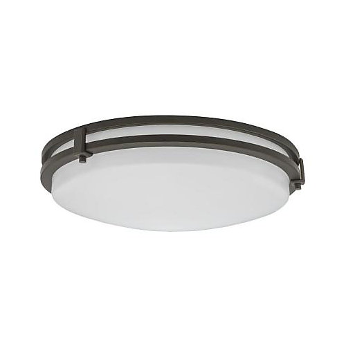 Saturn 13-inch 3000K Integrated LED Flushmount Light Fixture in Antique Bronze