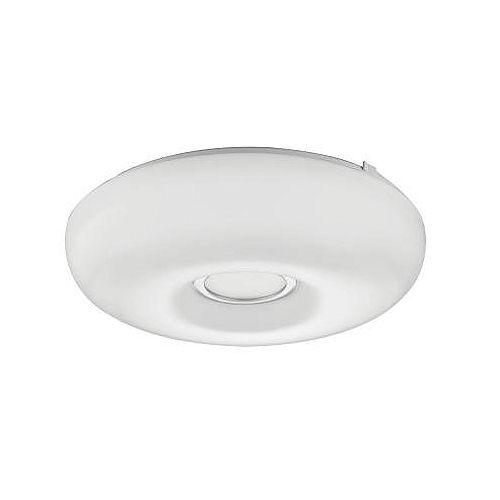Lithonia Lighting 14 Inch.  Kamino LED Round White Low Profile  Flush Mount With Chrome Inner Ring - 4000K