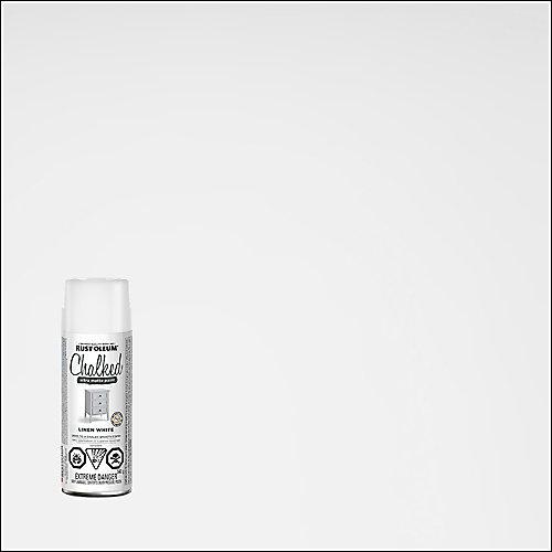 Peinture craie ultra-mate en lin blanc, 340 g en aérosol