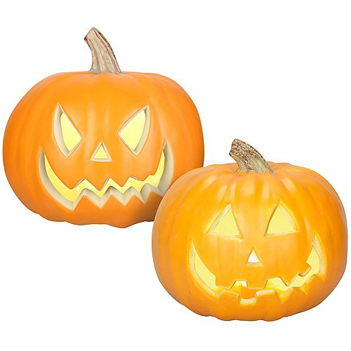 9-inch Pre-Lit Pumpkins