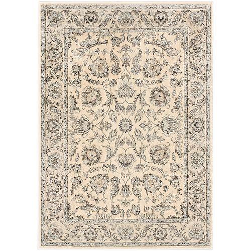 Prescilla Off-White 5 ft. 3-inch x 7 ft. 3-inch Indoor Traditional Rectangular Area Rug