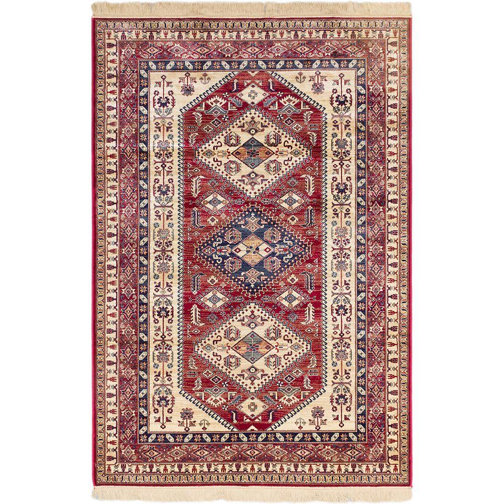 ECARPETGALLERY Carpette, 7 pi 9 po x 10 pi 10 po, rectangulaire, rouge Shiravan