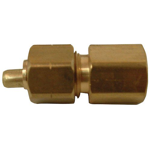 Sioux Chief Adapter 1/4 inch Outside Diameter Ander-Lign X 1/8 inch Female Fitting No Lead 1/Bg