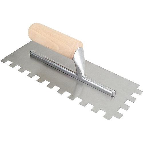 Truelle de Plancher à Encoches Carrées de 3/4 x 3/4 x 3/4 po.